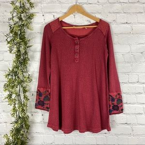 Soft Surroundings Floral Embroidered Palmer Tunic